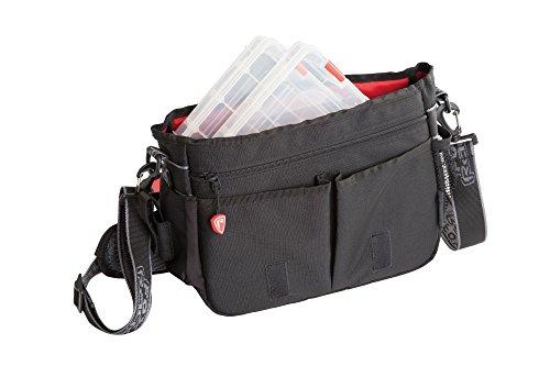 Fox Rage Voyager Messenger Bag, Angeltasche inkl. 2 Angelboxen / Tackleboxen, Anglertasche zum Spinnfischen, 36x26x12cm, Fox Tasche