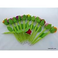 approvisionnements de partie sac fleur rose stylos de fantaisie de forme (12 pièces / sac)