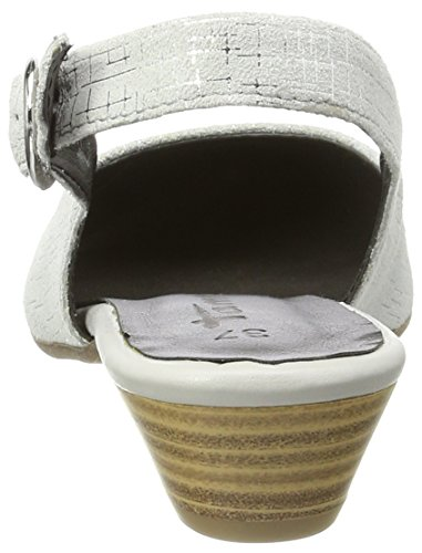 Tamaris Women's 29400 Wedge Heels Sandals, Blau (Navy Leather 848), 3 UK Grey (Lt. Grey/Silv. 293)