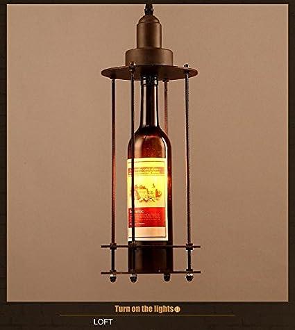 HEYUN Vendimia país de América Loft Forjado lámparas de ...