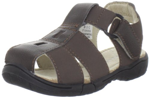 Toddler Boy's Jumping Jacks 'Sand Lot' Sandal Brown Nubuck 1