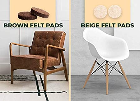 White Screw in Felt Gliders Chair Table Sofa Pads Hardwood Floor MADE IN GERMANY