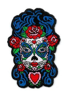 Sunny Buick - Butterfly Eyes Sugar Skull - Embroidered Patch (Butterfly Eye)