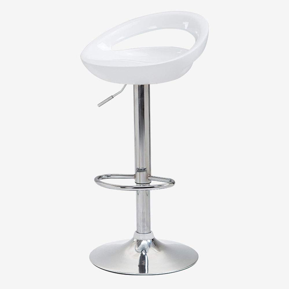 AO-stools Bar Chair Can Be Raised and Lowered Rotating High Stools Leisure Bar Chairs Etc 100x35cm (Color : White)