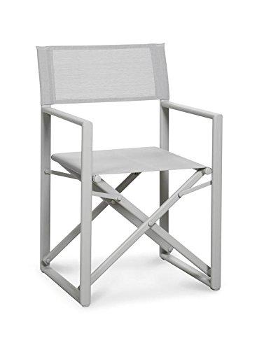 Regiestuhl Klappstuhl Gartenstuhl Gartenmöbel Stuhl Aluminium versch. Farben, Farbe creme creme