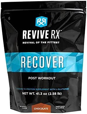 Revive Rx Recover Post Work Out Recovery Carbs, Protein and L-Glutamine 2.51lb Bulk, Chocolate