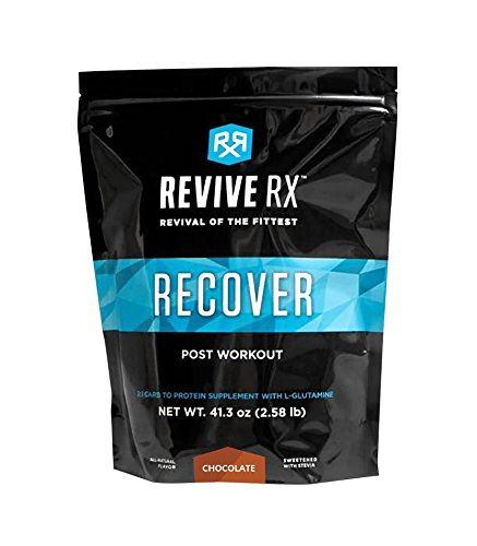 L-glutamine Advanced Recovery (Revive Rx Recover Post Work Out Recovery Carbs, Protein and L-Glutamine 2.51lb Bulk, Chocolate)