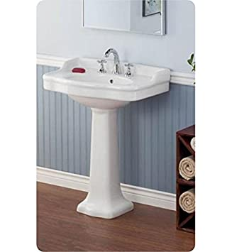 Cheviot 350 22 Wh 1 White Antique Pedestal Sink With Single Hole