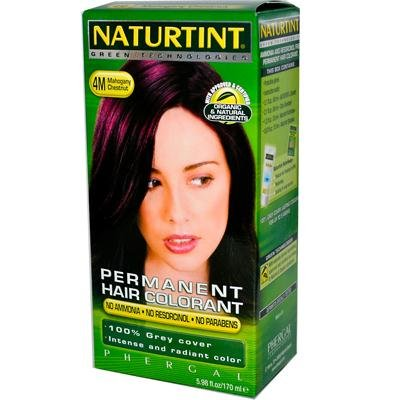 Hair Permanent Colorant (Naturtint 4M Permanent Mahogany Chestnut Haircolor Kit, 4.5 Ounce - 3 per case.)