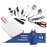 11 Piece Camp Kitchen Cooking Utensil Set Travel