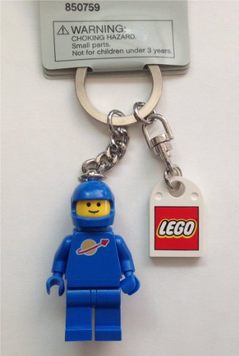 Lego Classic Space Blue Figure Key Chain with Lego Logo Tile
