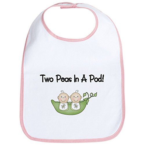 CafePress - Two Peas In A Pod Twins Bib - Cute Cloth Baby Bib, Toddler -