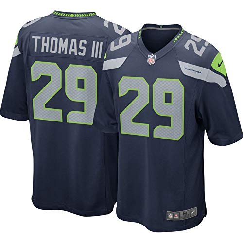 Nike Earl Thomas III Seattle Seahawks NFL Youth 8-20 Navy Home On-Field Player Jersey (Youth Medium 10-12) ()