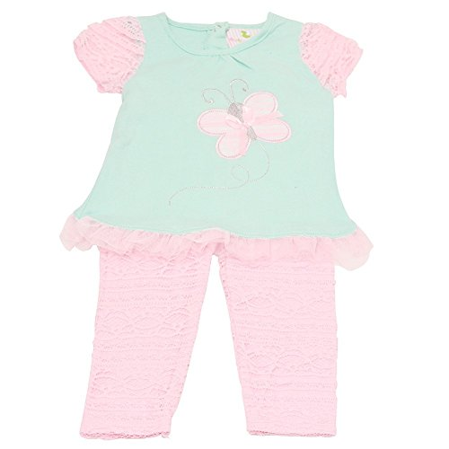 Butterflies Capri Girls Baby Clothes - 8