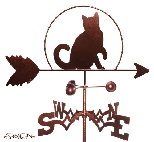 Hand Made CAT KITTEN GARDEN Stake Weathervane ~NEW~