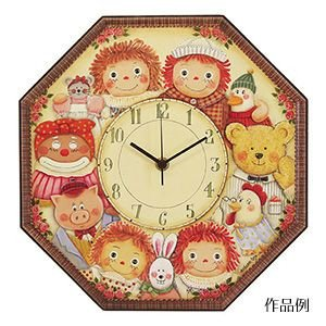 Country Craft Tole plain wood material for Friends clock B833 (japan import)