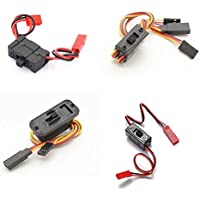 On-Off Switches Servo Connector JR Switch Harness Futaba JR ON/OFF Switching Power JST Plug Adapters ON OFF Male Female Wire Connections Li-Po R/C
