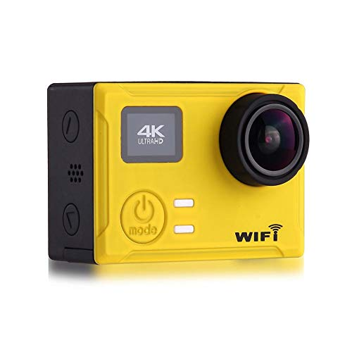 New 4K 170° HD Wide-Angle Fisheye Motion Camera WiFi IPX8 Waterproof Anti-Shake Camera with Remote Control Support Car Battery Life 3H with Sensor Function (Without Memory Card)