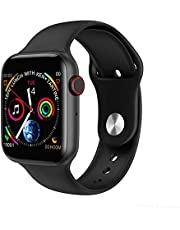 Smart Watch Rubber Band For Android & iOS,Black - w34