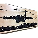 Valentines Day Gift For Military Girlfriend C-17 Airplane Decor Carved Wood Sign