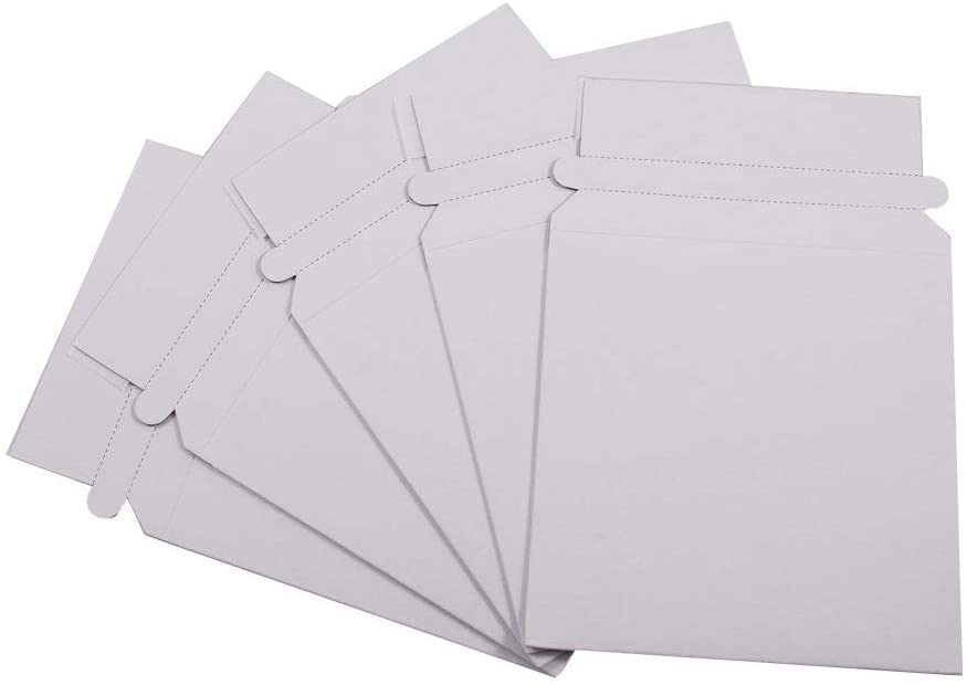Maxtek 100 Stay Flat CD//DVD White Cardboard Mailers,5 1//4 x 5 1//4 inch Self Seal Adhesive with Flap