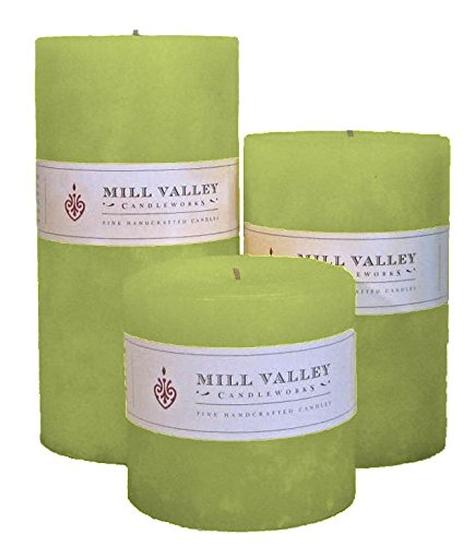 Mill Valley Candleworks Island Flowers Unscented Candle Gift Set, 4-Inch, Set of 3 by Mill Valley Candleworks