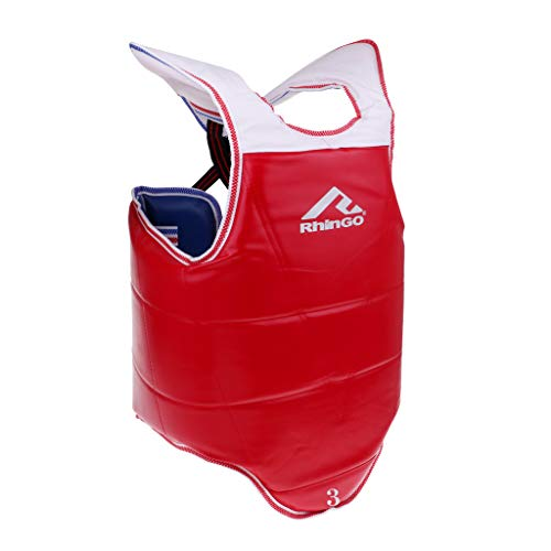 CUTICATE Sports Chest Guard Boxing MMA Body Protector for Martial Arts Rib Shield Karate Taekwondo Target Training - Multiple Sizes - M
