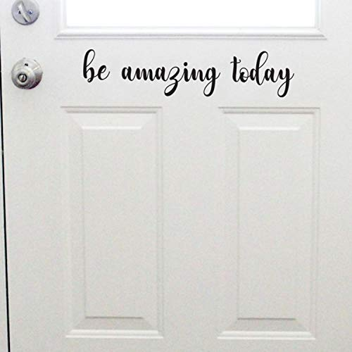 - Motivational Art Decal/Be Amazing Wall Text Decoration Vinyl Sticker- Black