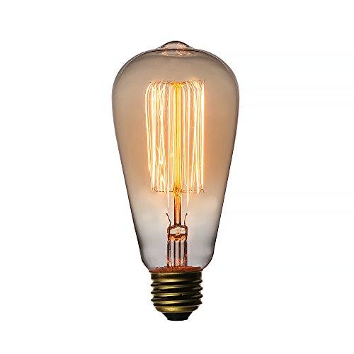 Incandescent Standard Sconce (Fantado 25-Watt Incandescent ST58 Vintage Edison Light Bulb, Squirrel Cage Filament, E26 Base by PaperLanternStore)