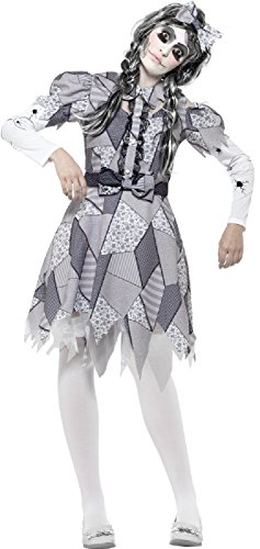 Ladies Evil Damaged Grey Spooky Broken Doll Halloween Carnival Fancy Dress Costume Outfit UK 8-22 (UK 16-18) for $<!--$44.27-->