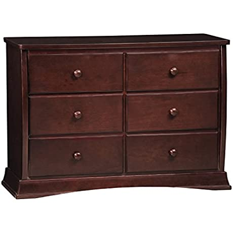 Delta Children Bentley Six Drawer Dresser Black Cherry Espresso