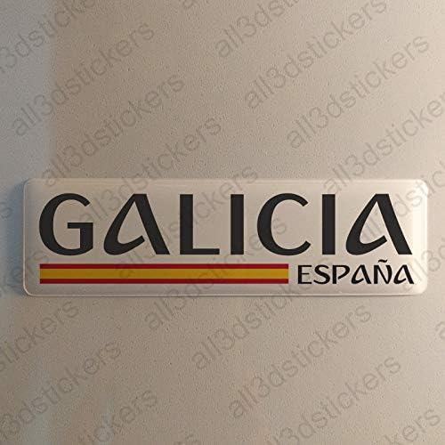 Pegatina Galicia España Resina, Pegatina Relieve 3D Bandera ...