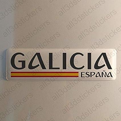 Pegatina Galicia España Resina, Pegatina Relieve 3D Bandera Galicia España 120x30mm Adhesivo Vinilo: Amazon.es: Coche y moto