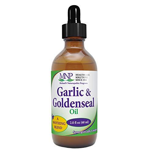 Michael's Naturopathic Programs Garlic & Goldenseal Oil - 2 fl oz - Natural Moisturizing Lotion That Contains Sesame Oil & Safflower Oil - Vegetarian, Kosher - for External Use