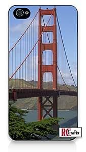 San Francisco California Amazing Golden Gate Bridge iPhone 4 Quality Hard Snap On Case for iPhone 4 4S 4G - AT&T Sprint Verizon - Black Frame