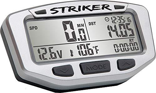 Trail Tech 712-119 Black Striker Speedometer Digital Gauge Kit with Volt Meter ()