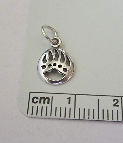 Fine Charms Tiny 11x8mm Sterling Silver Cut Out Bear Claw Paw Mascot ()