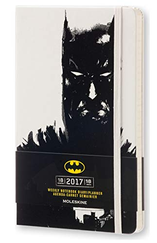 Edition Weekly - Moleskine 2016-2017 Batman Limited Edition Weekly Notebook, 18M, Large, White, Hard Cover (5 x 8.25)