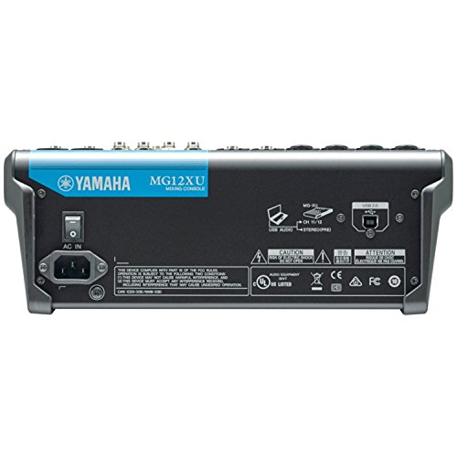 Yamaha MG12XU 12 Input, 4 Bus Mxer (with Compression, Effects, USB) w/ Microphone and Cable by Yamaha (Image #2)