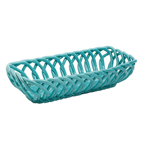 The Pioneer Woman Timeless Beauty 13.7-Inch Turquoise Bread Basket