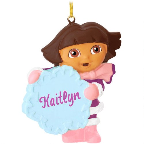 Dora the Explorer With Snowflake Ornament