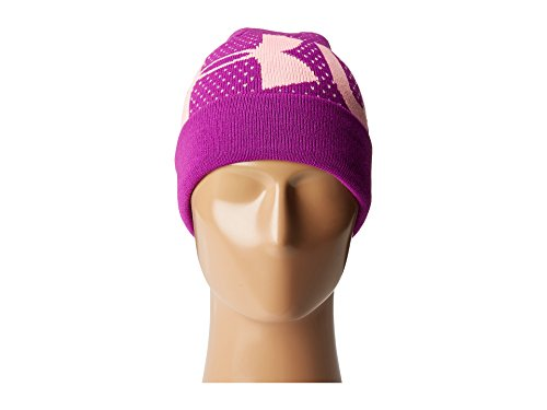 Under Armour Girl's Favorite Beanie (Little Kids/Big Kids) Purple Rave/Pop Pink/White Hat by Under Armour (Image #5)