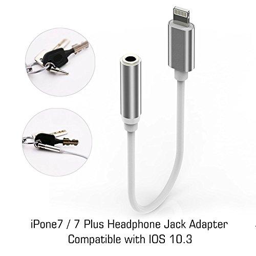 iPhone 7 Adapter Headphone Jack, Lightning to 3.5 mm Headphone Jack Adapter for iPhone 7 / 7 Plus Accessories