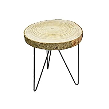Van Manen 080979 Tisch Baumplatte Mit Rinde Met 1 Stuck