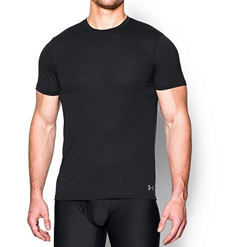 Under Armour Men's Core Crew Undershirt, Black/Steel, Large