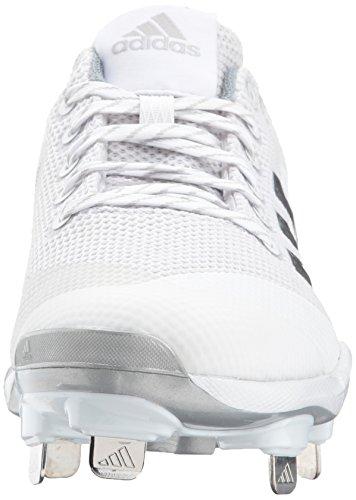 adidas PowerAlley 5 Cleat Womens Softball White/Metallic Silver/Light Grey 99uAq