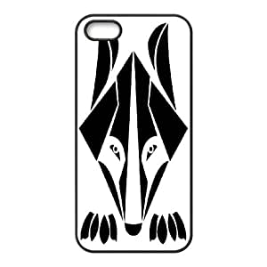 DIY Stylish Printing The wolf Cover Custom Case For iPhone 5, 5S V66Q973107