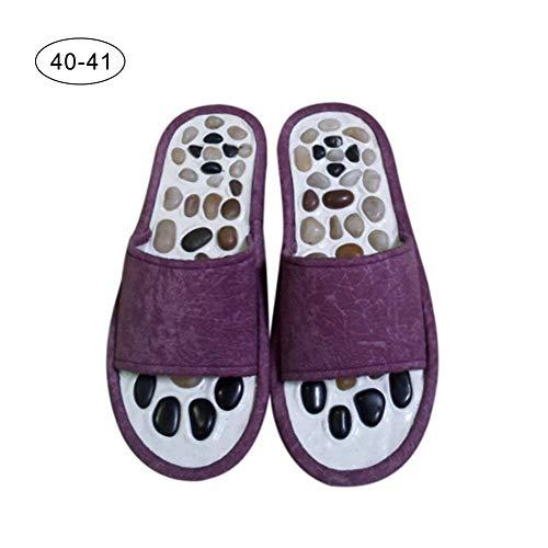 De Cobblestone 43 Innovantes Santé 40 41 Fuchsia Fond Pied Massage 36 Acupoint Chaussures Masseur Pantoufles Taille Confortables Soins nqFUYwSx