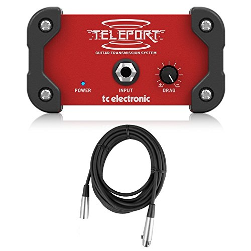TC Electronic GLT Teleport High-Performance Active Guitar Signal Transmitter Bundle with 20' XLR Cable by TC