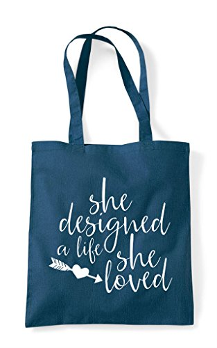 Bag A Loved Statement Tote Petrol She Designed Life Shopper YRFzzq